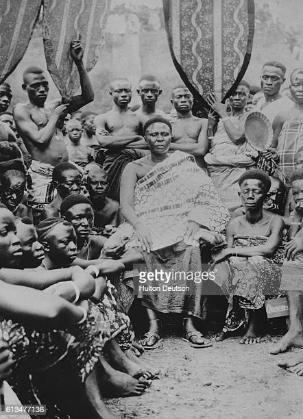 The Queen mother of the Asante people holds her court in Kumasi