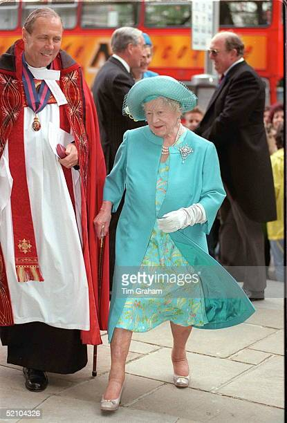 The Queen Mother On 1st July 1997 One Month Away From Her 97th Birthday At St Paul's Cathedral To Attend The Festival Service For The Friends Of...