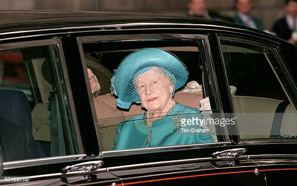 The Queen Mother On Her Way To Unveil The Evening Standard London Memorial At St Pauls Cathedral