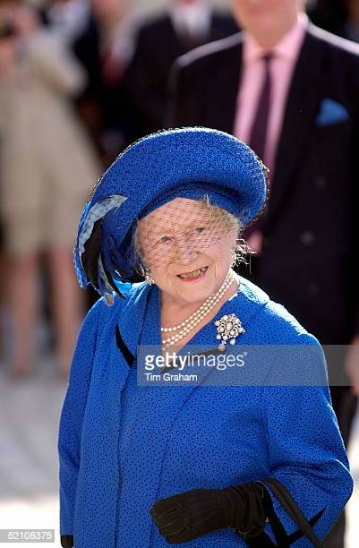The Queen Mother Three Months Ahead Of Her 100th Birthday Visiting Somerset House In London To Mark Its Restoration Its Opening To The Public And The...