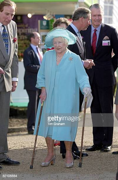 The Queen Mother Visiting The Chelsea Flower Show In Chelsea London As Part Of The Traditional Royal Calendar Of Events Each Year She Is Using Her...