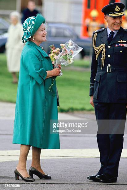 The Queen Mother was taken by Royal Air Force Rescue helicopter to Aberdeen Infirmary when a fish bone lodged in her throat on August 15 1986 in...