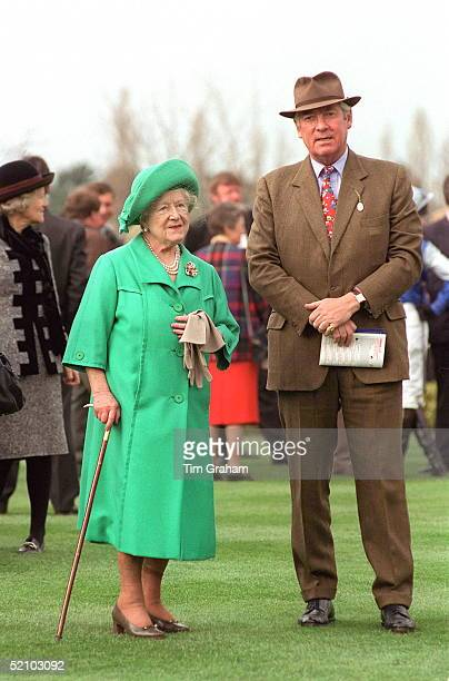 The Queen Mother With Lord Vestey At The National Hunt Festival, Cheltenham, Gloucestershire.