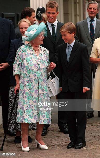 The Queen Mother With Prince William on her 94th birthday London 4th August 1994