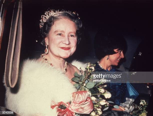 The Queen Mother with Princess Margaret