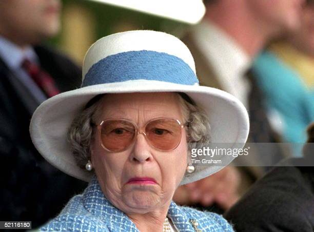 The Queen Not Amused At The Royal Windsor Horse Show In Her 'back Garden' At Windsor Castle