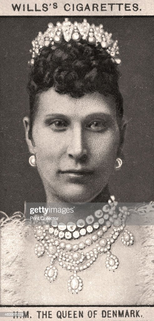 H.M The Queen of Denmark, 1908.Artist: WD & HO Wills : News Photo