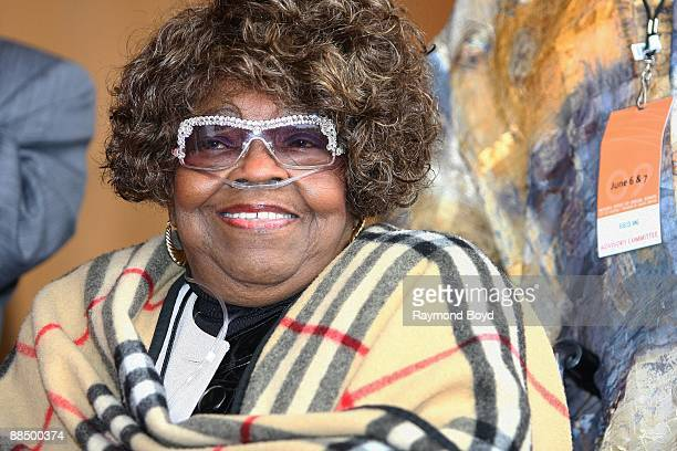 The 'Queen Of Gospel' Albertina Walker makes an appearance at the Pritzker Pavilion in Chicago Illinois on JUNE 06 2009