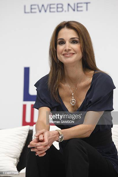 The Queen of Jordan Rania AlAbdullah at the conference LeWeb09 in Paris France on December 10th 2009