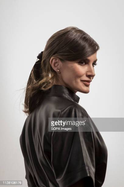 The queen of Spain Letizia Ortiz seen at the second day of the ARCO Madrid contemporary art fair