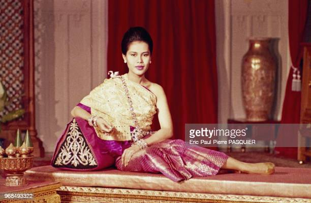 HRH The Queen of Thailand Queen Sirikit in traditional costume