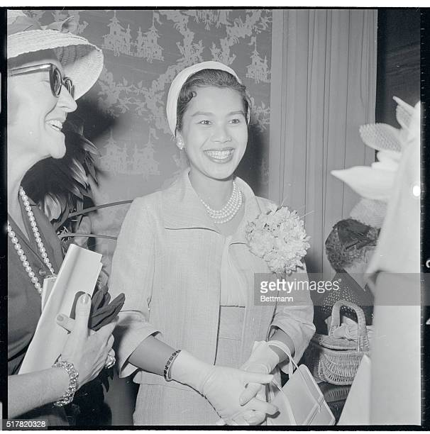 The Queen of Thailand Sirikit on a visit to Washington DC on June 28 1960