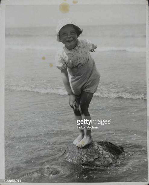 The Queen Of The Island, This little holiday maker at Bridlington seems to enjoy standing on her ëlittle islandí which is submerged every time the...