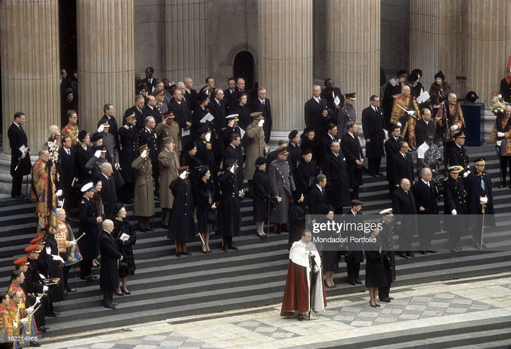 Royals and heads of State at Winston Churchill's funeral : News Photo