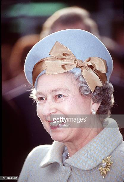 The Queen On A Visit To Newbury In Berkshire