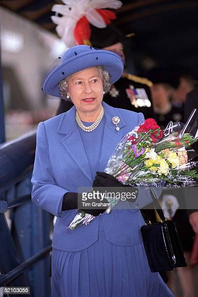 The Queen On Tower Pier On Her Way To A Lunch On Hmy Britannia Next To Tower Bridge In The Pool Of London