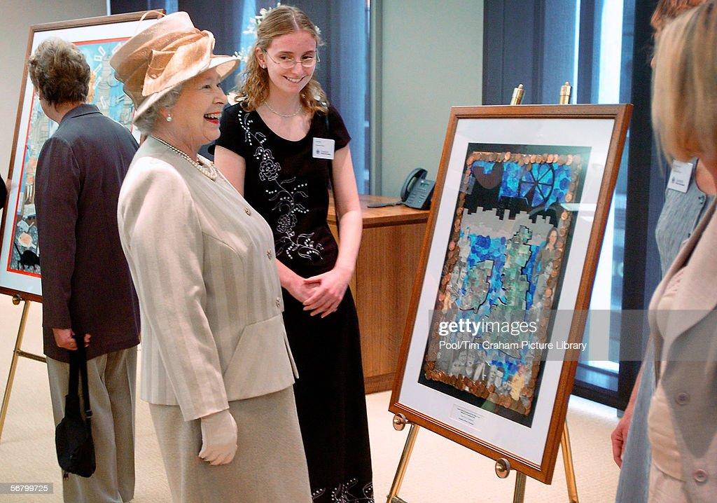 Queen Opens London Stock Exchange : News Photo
