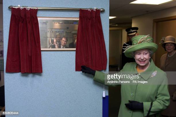 The Queen opens the new Macmillan Cancer Care Hospital at The Queen Elizabeth Hospital in Kings Lynn Norfolk on the 50th anniversary of her accession...
