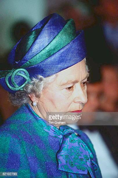 The Queen Pensive During A Visit To Bonn Germany