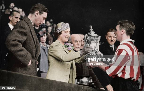 The Queen Presents The Cup' 1937 From The Sphere Coronation Record Number [The Sphere London 1937] Artist Unknown