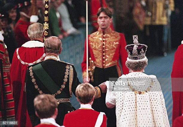 The Queen Prince Philip At The State Opening Of Parliament