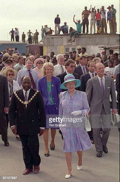 The Queen Prince Philip Visiting The Khayelitsha Township South Africa