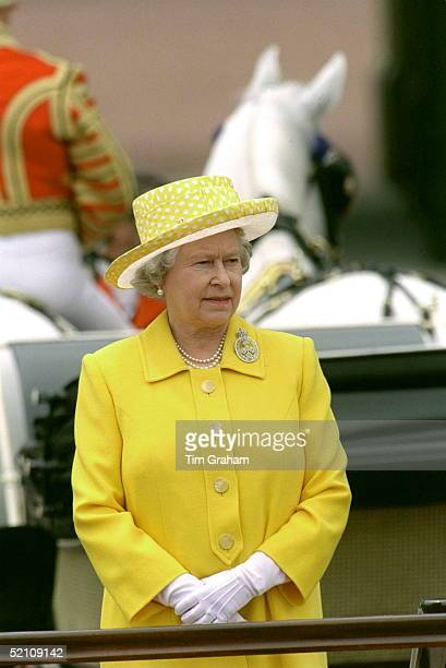 The Queen Taking The Salute At Trooping The Colour To Celebrate Her Official Birthday Buckingham Palace London