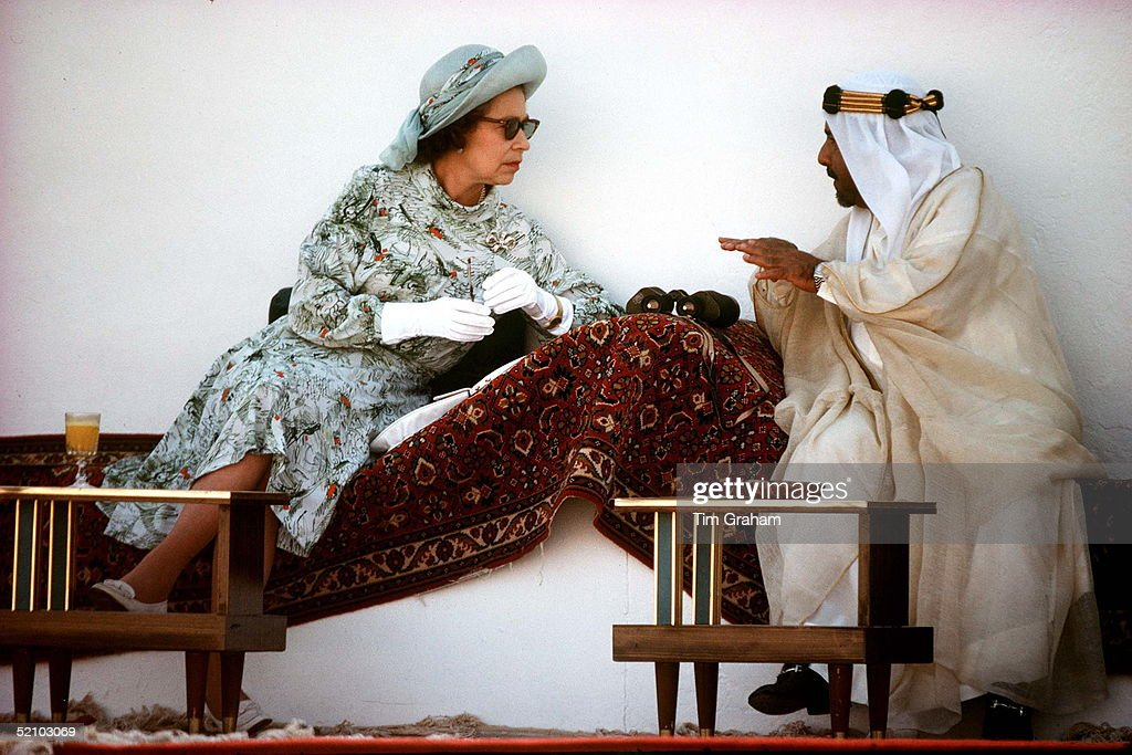 Queen And Emir Of Bahrain : News Photo