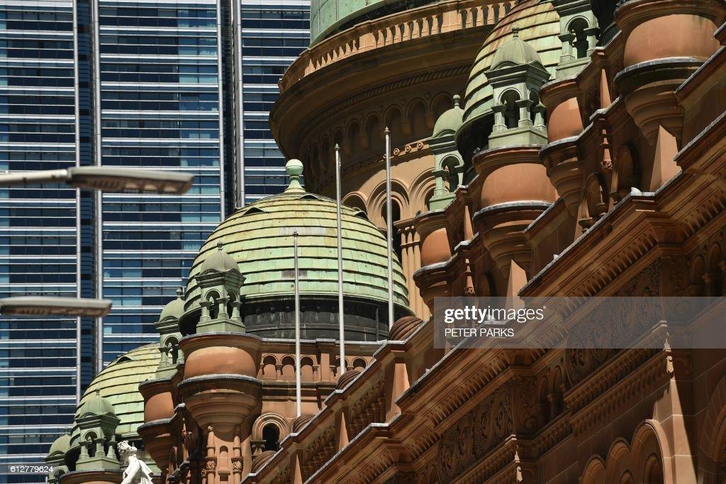 The Queen Victoria Building (C), a Romanesque architecture style ...