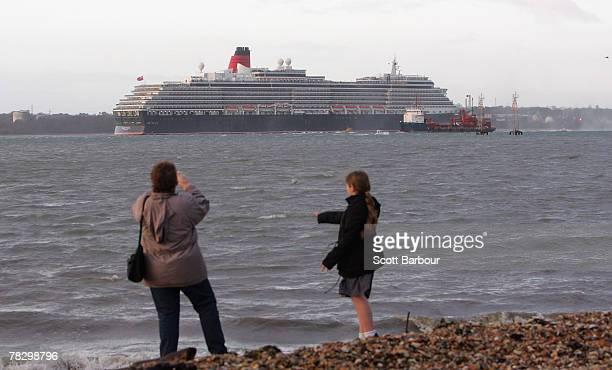 The MS Queen Victoria cruise liner arrives in Southampton on December 7, 2007 in Southampton, England. The new 90,000 ton vessel is Cunard Line's...