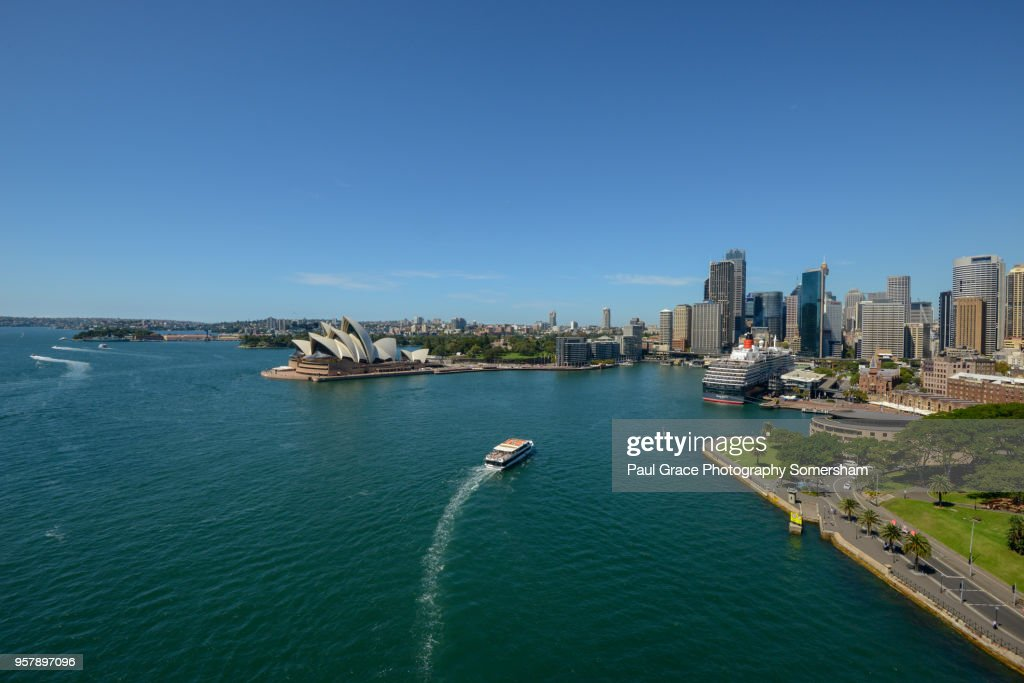 The Queen Victoria Cruise Ship Docked In Sydney Harbour ...