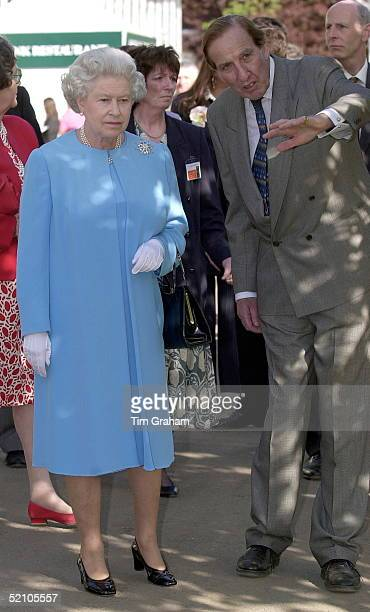 The Queen Visiting The Chelsea Flower Show In Chelsea London As Part Of The Traditional Royal Calendar Of Events Each Year