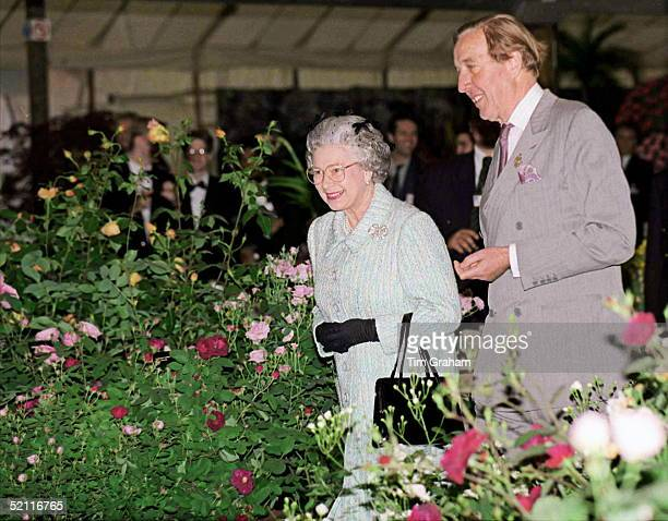 The Queen Visiting The Chelsea Flower Show In London