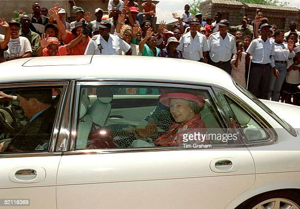 The Queen Visiting The Education Centre In Alexandra Township Johannesburg South Africa
