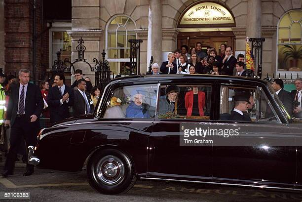 The Queen Visiting The Royal Homoeopathic Hospital Great Ormond Street London