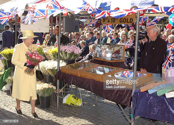 The Queen Visits Enfield Market In London