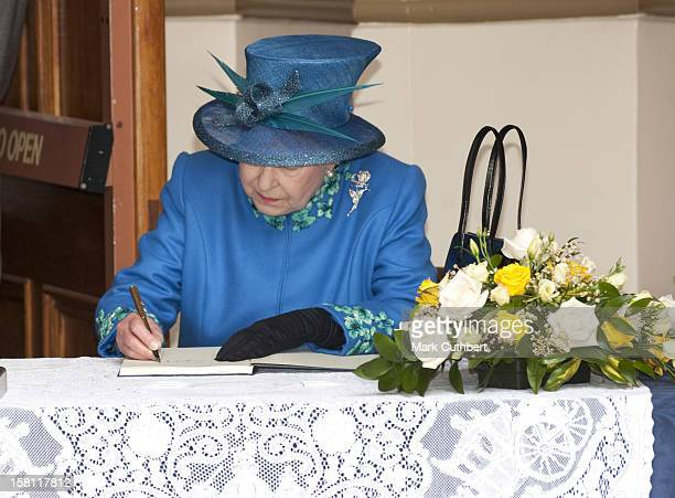 The Queen Visits The Farmers Market At Welshpool Town Hall, Including The Viewing Of Stalls Follwed By A Walkabout In The High Street.
