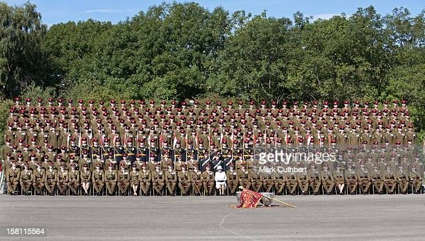 The Queen Visits The Queen's Royal Lancers At Catterick Army Base In Yorkshire