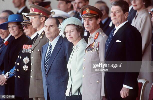 The Queen With Queen Beatrix Of The Netherlands King Olav Of Norway King Baudouin President Mitterand The Queen Grand Duke Of Luxembourg And...
