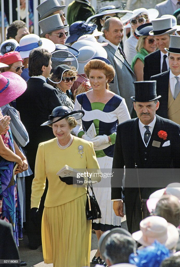 Queen Sarah And Andrew At Ascot Races : News Photo