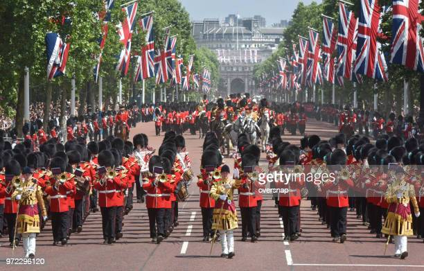the queens birthday parade - honor guard stock pictures, royalty-free photos & images