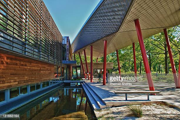 The Queens Botanical Garden's Visitor Administration Building in Flushing NY which earned a Platinum certification US Green Building Council...