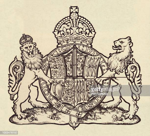 The Queen's Coat of Arms' 1937 From Coronation Souvenir Book 1937 edited by Gordon Beckles [Daily Express London 1937] Artist Unknown
