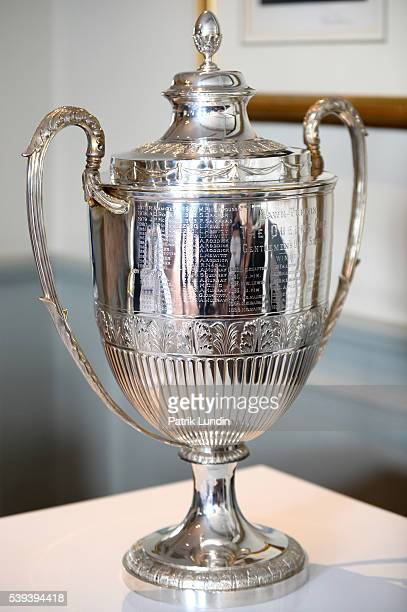 The Queens Cup Trophy during the draw at Queens Club on June 11 2016 in London England