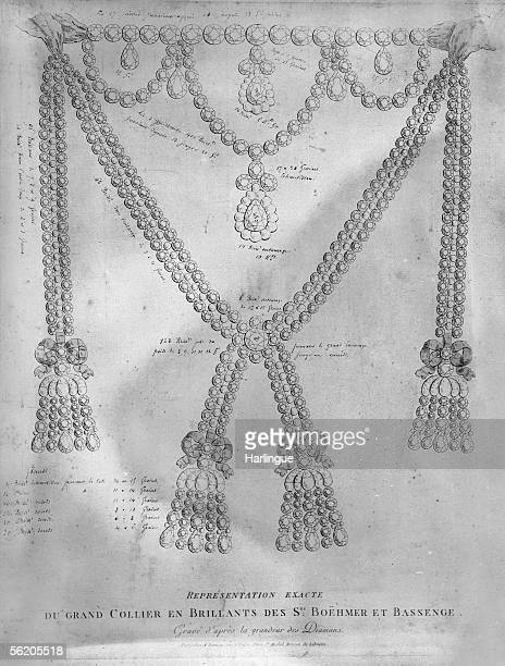 The Queen's necklace case Exact representation of the big necklace made by Boehmer et Bassenge Paris Carnavalet museum