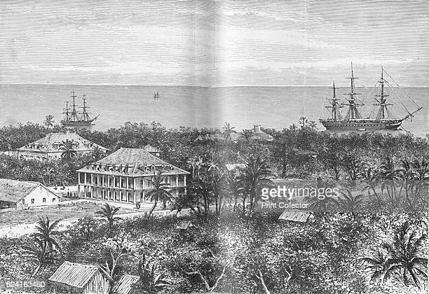 The Queen's Palace at Papeete Tahiti' c1885 From Journal of Researchers into the Natural History and Geology of the Countries Visited during the...