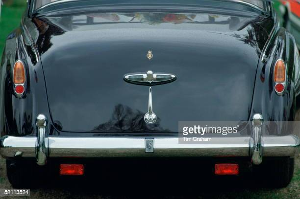 The Queen's Phantom Vi Rolls Royce Her Official Car Given To Her As A Gift For Her Silver Jubilee In 1977 Backview Showing No Number Plates