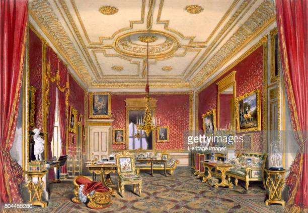 The Queen's private sitting room Windsor Castle 1838 Artist James Baker Pyne