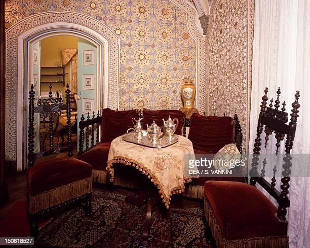 The queen's rooms in the Palacio Nacional da Pena Sintra Portugal