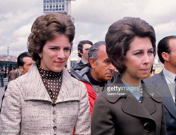 The Queens Sofia of Spain and Ana Maria of Greece at the racetrack of 'Jarama' Madrid Spain